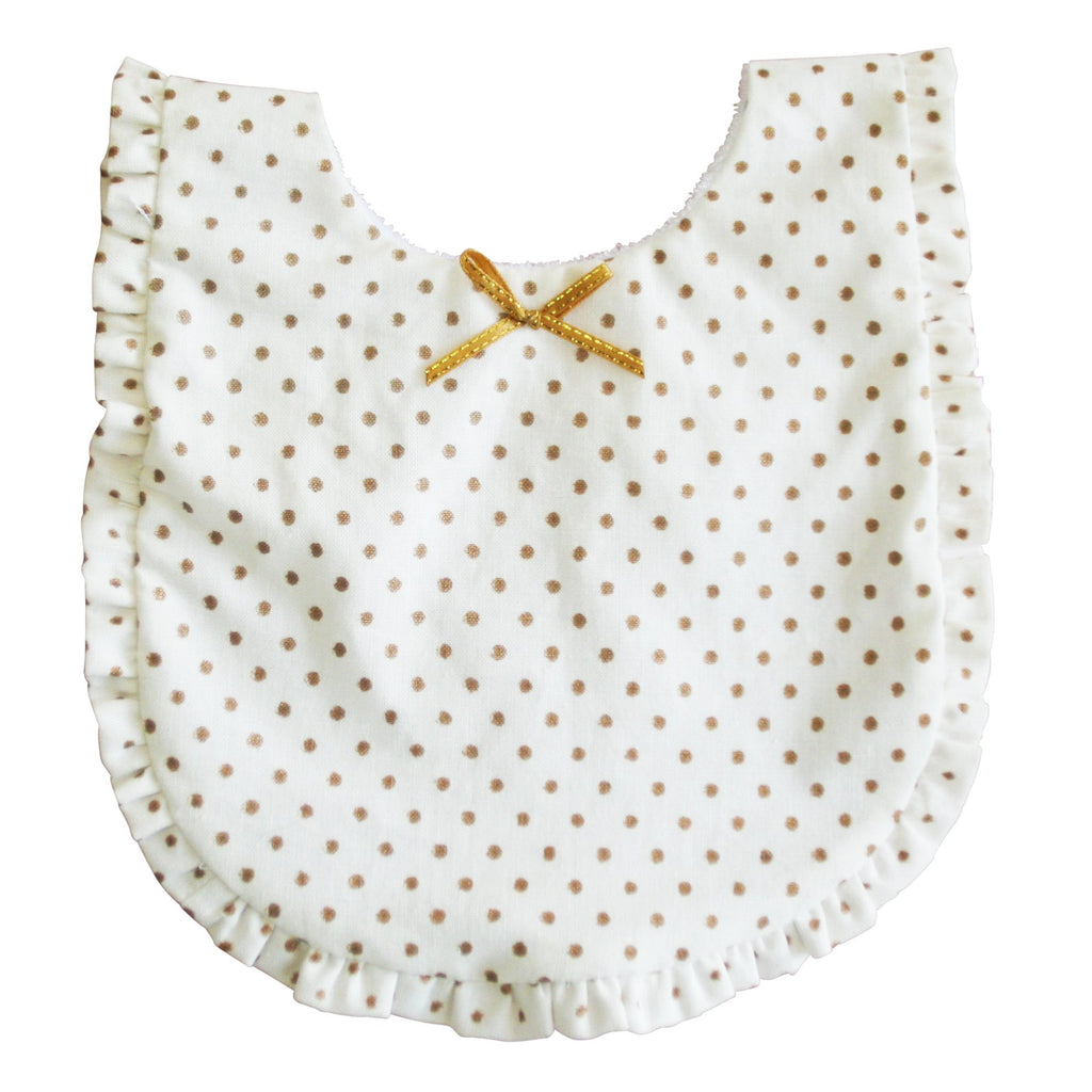 Gold Ruffled Edge Bib