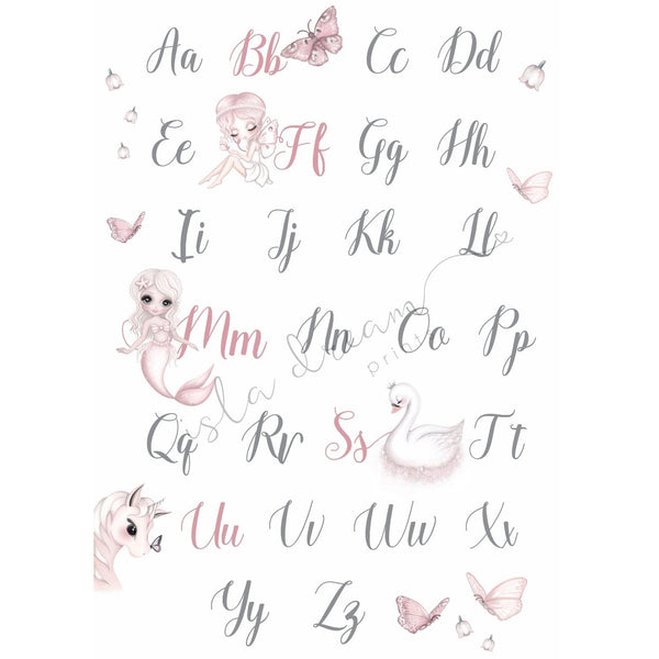 Whimsical Alphabet Poster