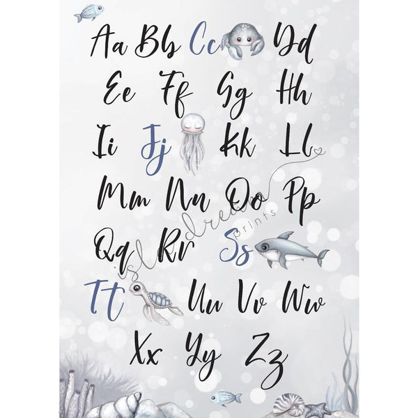 Nautical Alphabet Poster