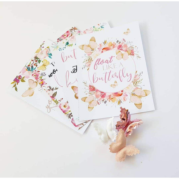Flutter Affirmation Cards- 4 Pack