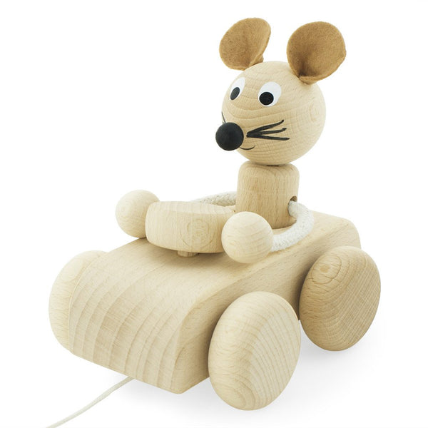 Wooden Pull Along Mouse Albert