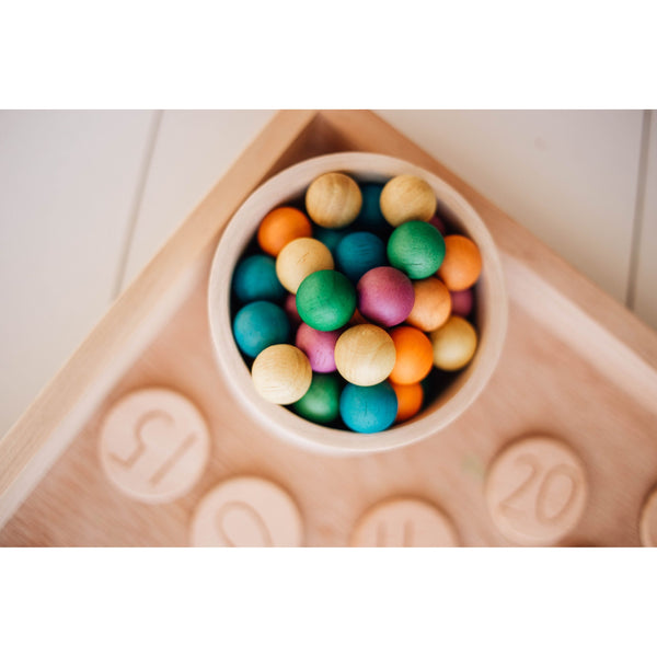 Coloured Wooden Balls