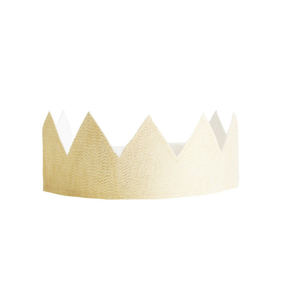 Fabric Crown Ivory and Gold Linen