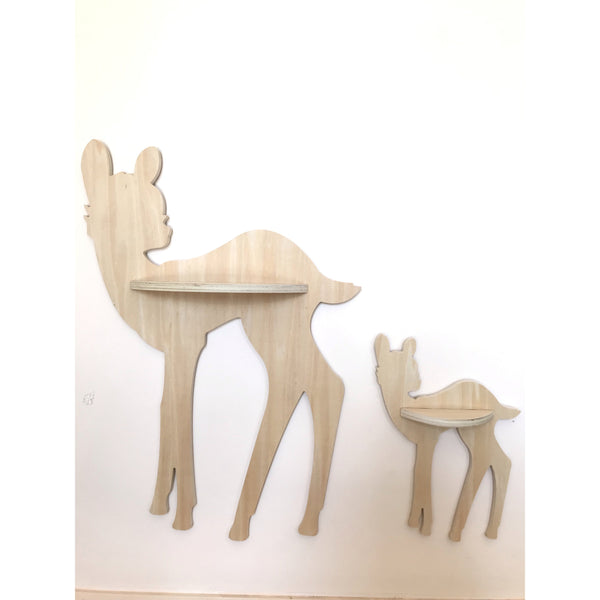 Natural Deer Wall Shelves