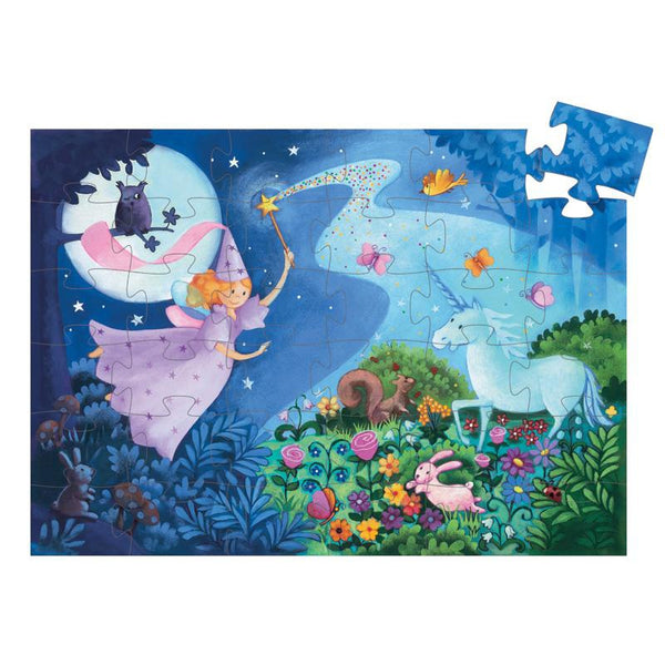Fairy and Unicorn Silhouette Puzzle