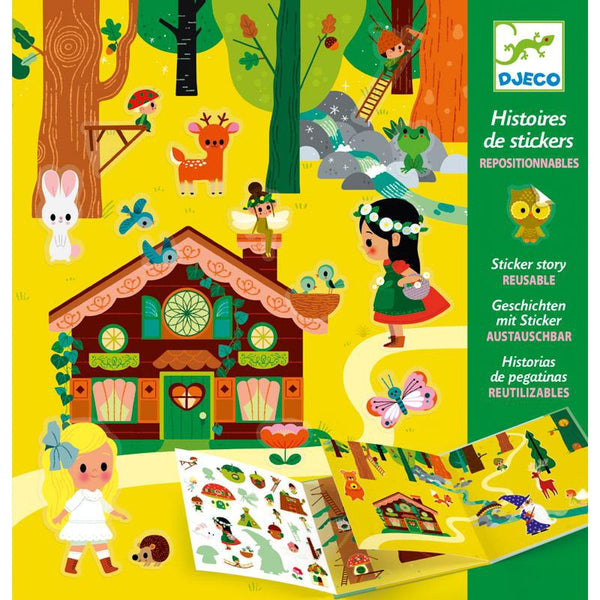 Djeco Magical Forest Fairy Sticker Set