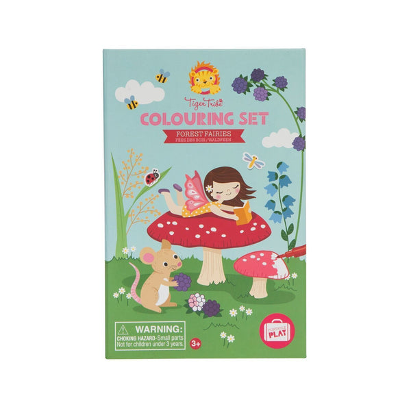 Tiger Tribe Forest Fairies Colouring Set