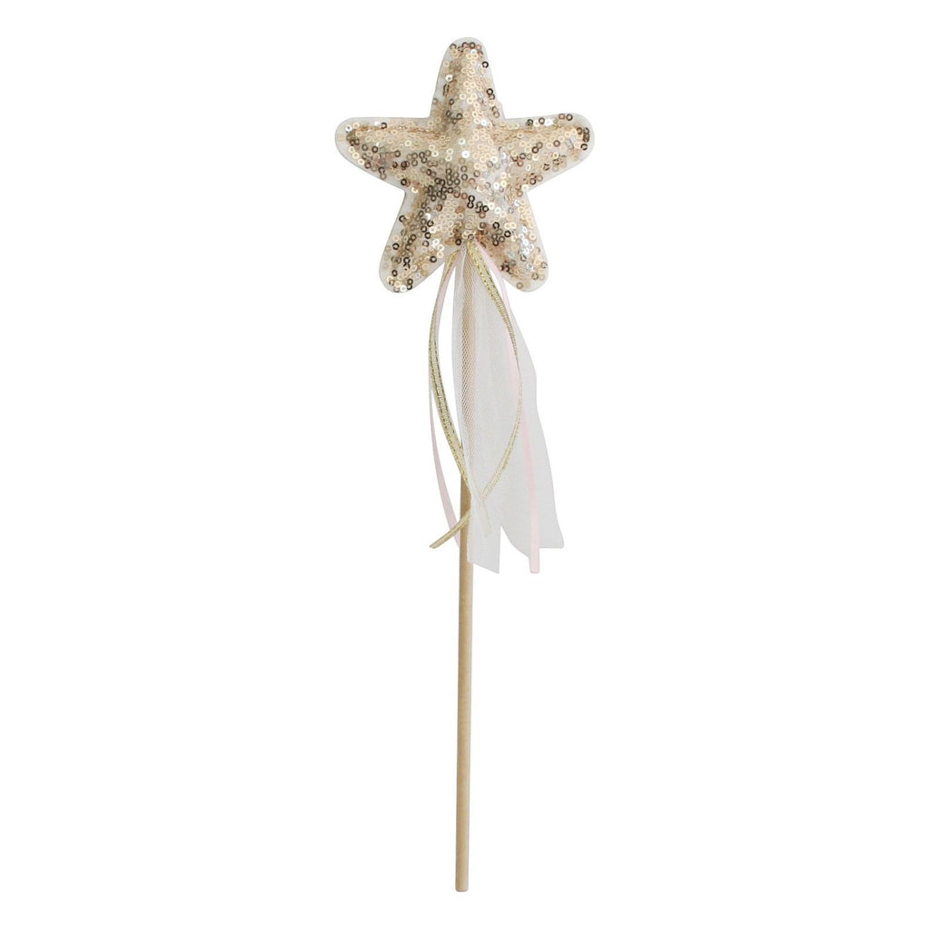 Sequin Star Wand Gold