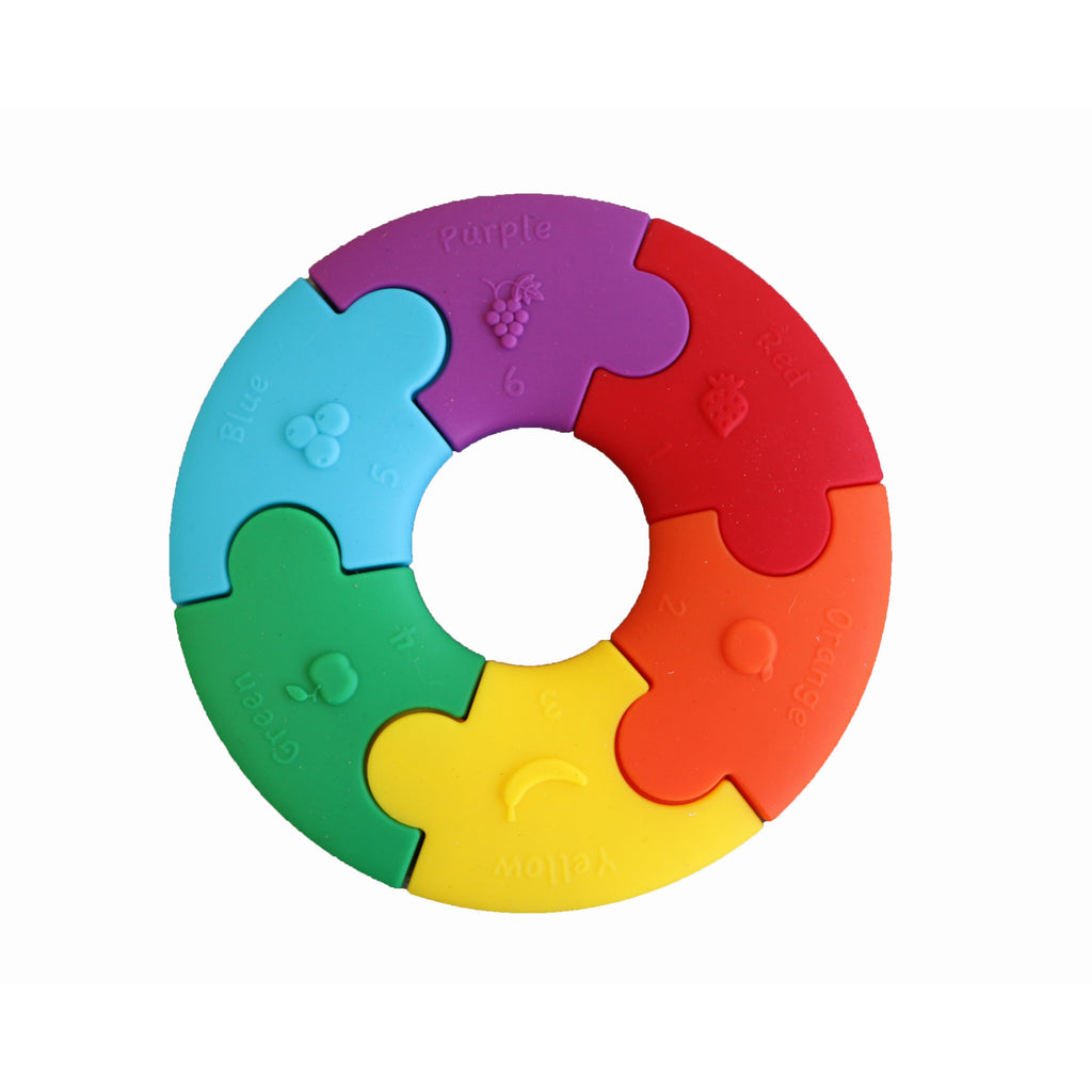 Colour wheel teether