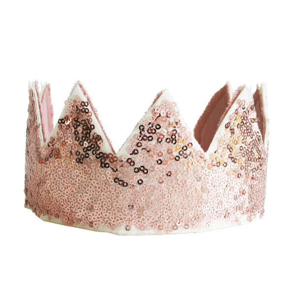 Sequin Sparkle Crown Rose Gold