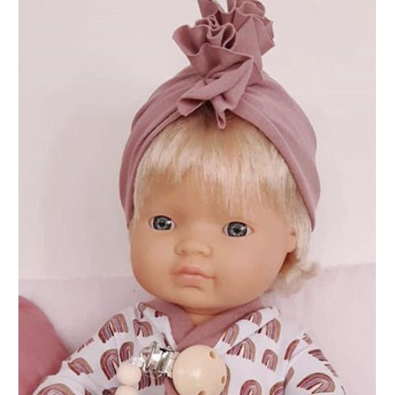 Dolly Turban Dusty Rose