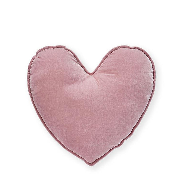 Pink Velvet Heart Cushion