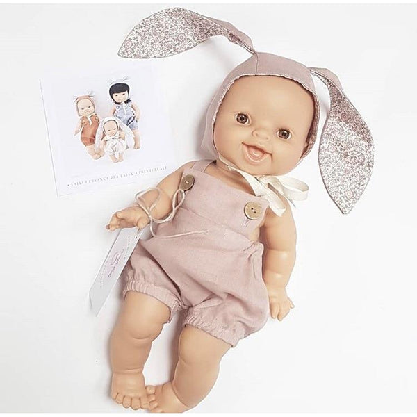Baby Miniland Bunny Bonnet and Romper Set