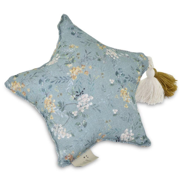 Green Branches Small Muslin Star Pillow