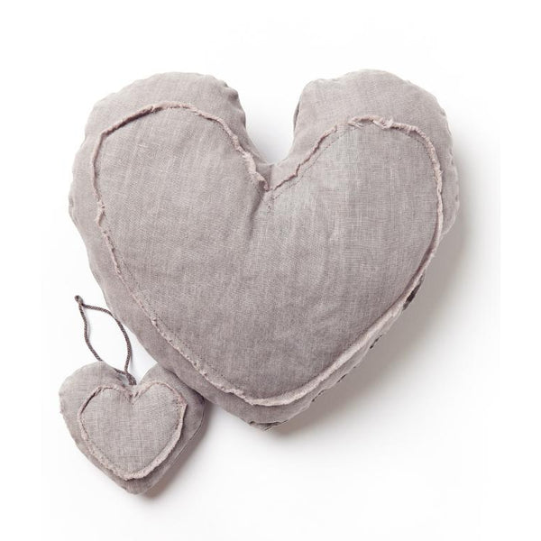 Grey Heart Cushion