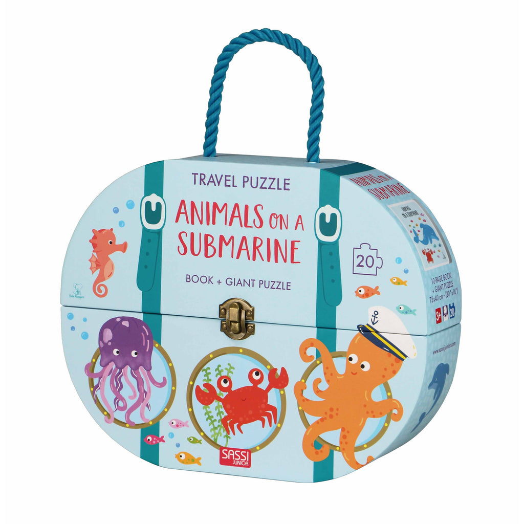 Animals on a Submarine Giant Travel Puzzle and Book