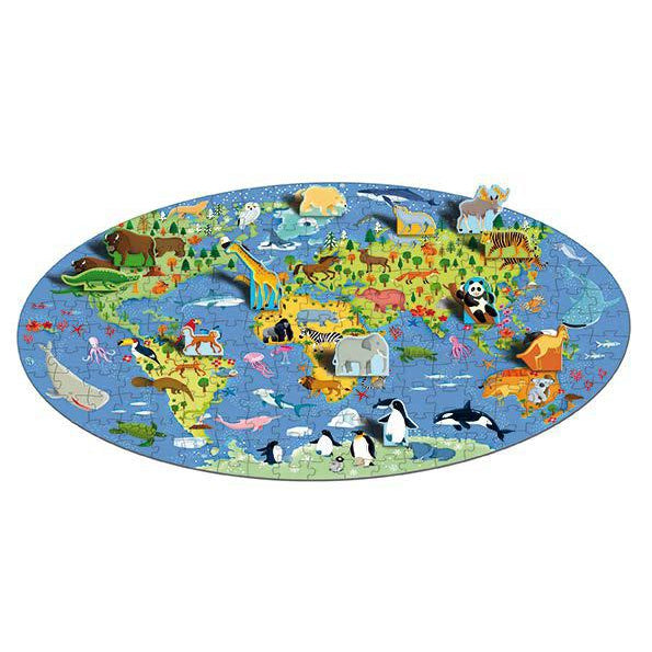 The World of Animals Puzzle and Book