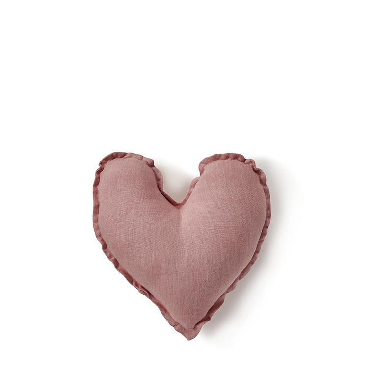 Blush Pink Heart Cushion