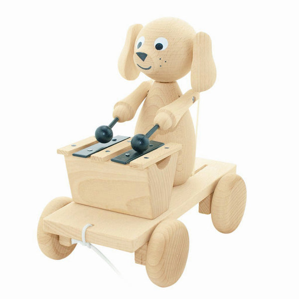 Wooden Pull Along Dog with Xylophone Margot