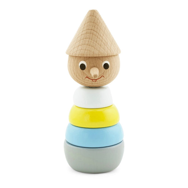 Wooden Stacking Puzzle Coloured Pinocchio