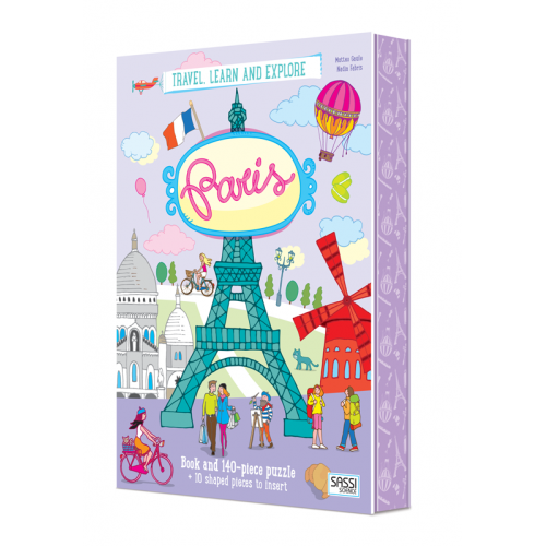 Paris Puzzle and Book Set