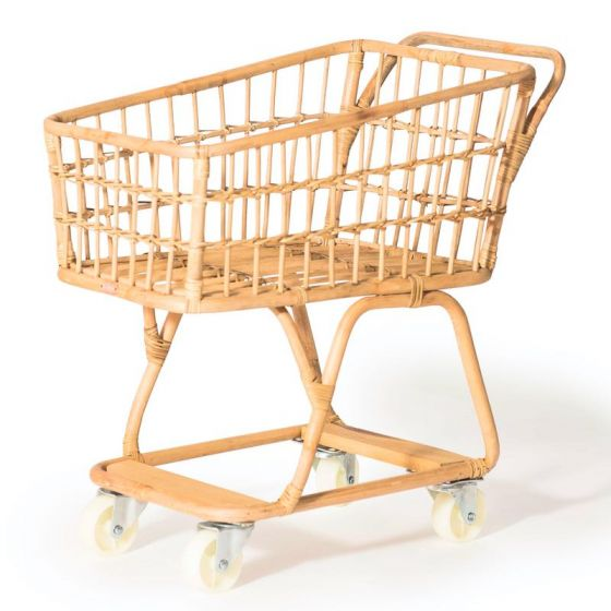 Rattan Shopping Trolley