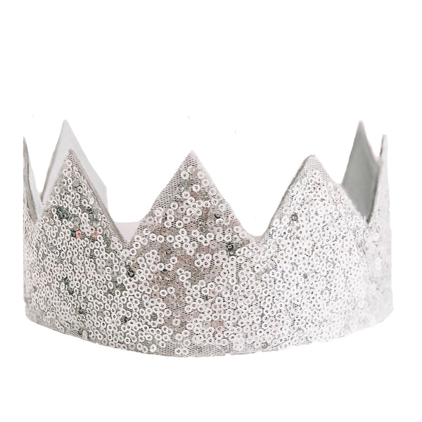 Sequin Sparkle Crown Silver