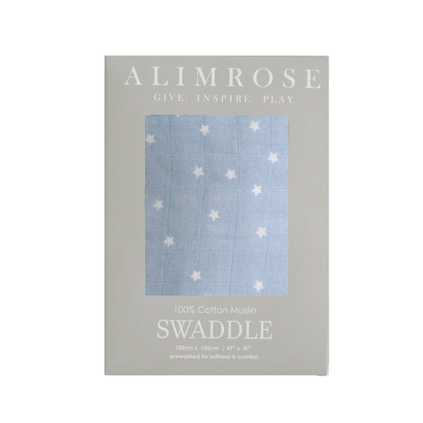 Muslin Swaddle Starry Night Blue