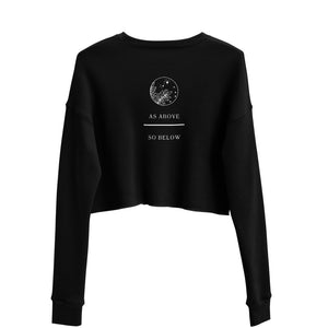 As Above Crop Sweatshirt