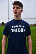 Load image into Gallery viewer, Bring Back The Biff Navy T-Shirt
