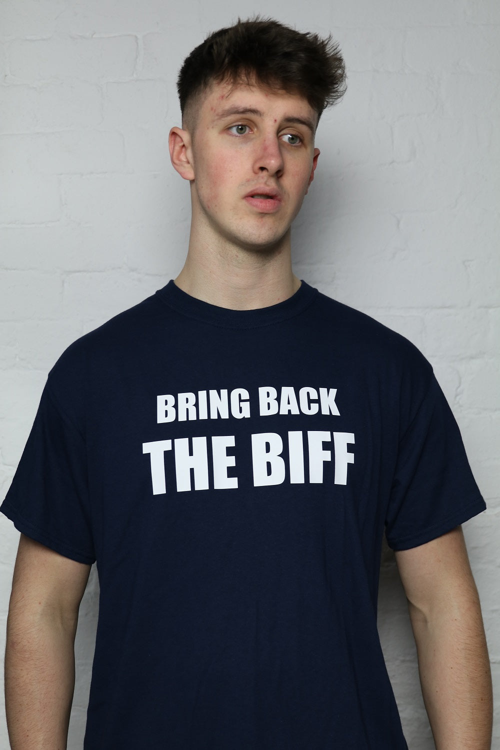 Bring Back The Biff Navy T-Shirt