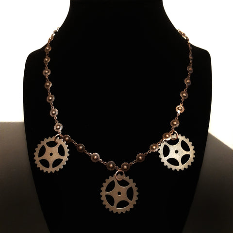Solar gear necklace