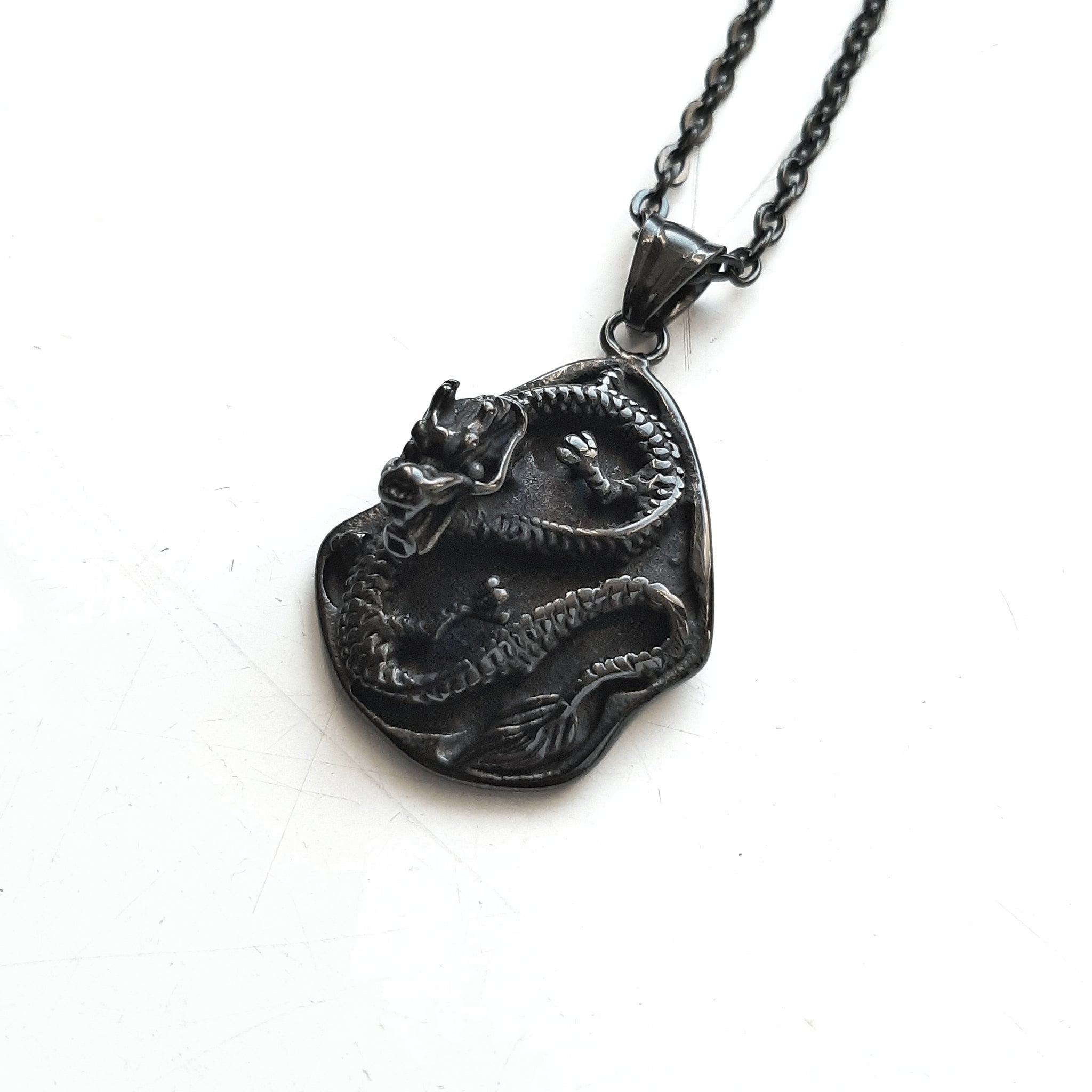 Dragon slab necklace