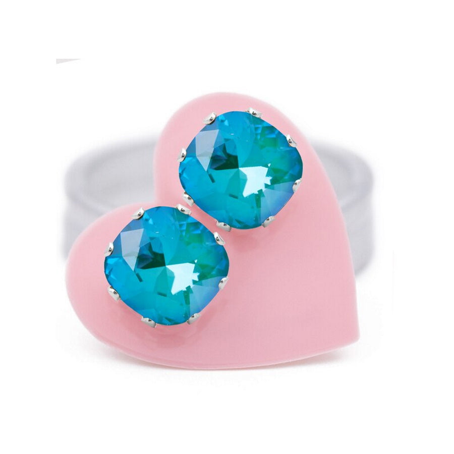 JoJo Loves You-Turquoise & Caicos Cushion Bling