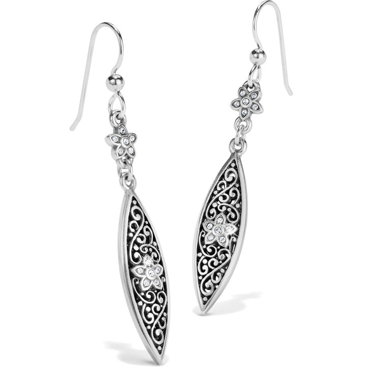 Baroness Fiori Marquise French Wire Earrings