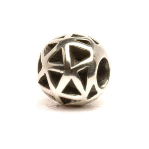 Trollbead-Triangles Bead, Silver-Retired