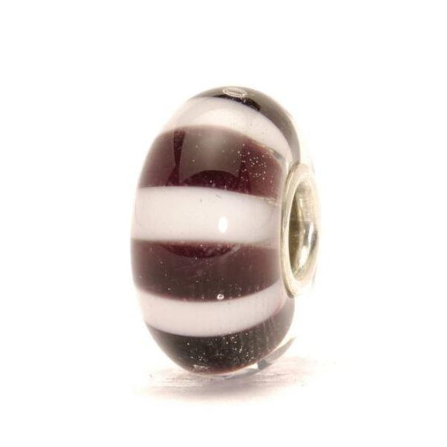 Trollbeads-Black and White Stripes Bead