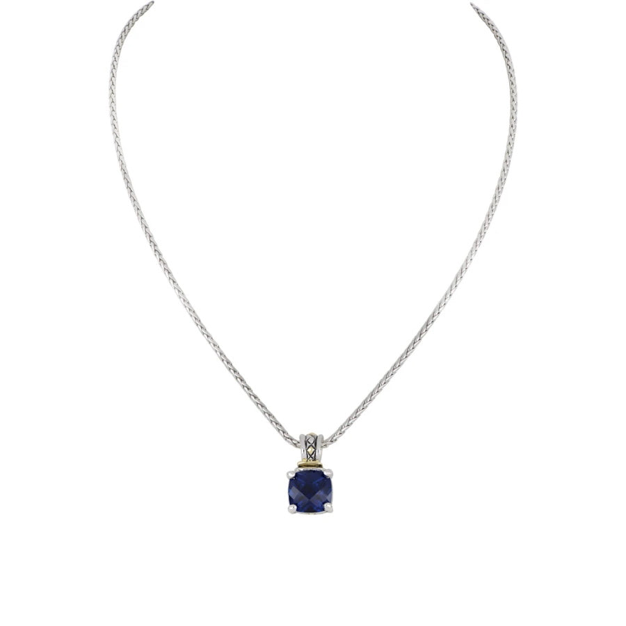 Beijos Cor 10x10mm Cushion Cut Pendant Necklace