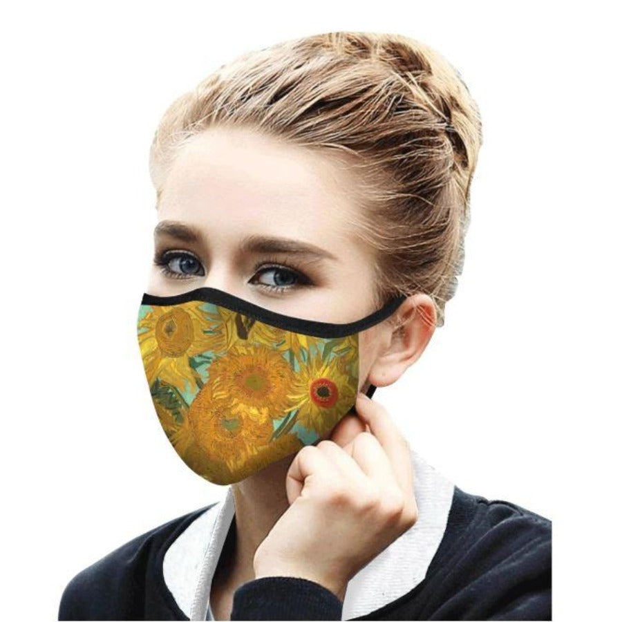 Face Mask - Rain Caper - Van Gogh Sunflowers