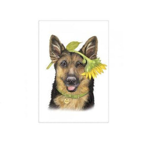 Flour Sack Dish Towel - Sunflower Shepherd