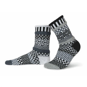 Solmate Socks - Midnight Crew Socks - Medium