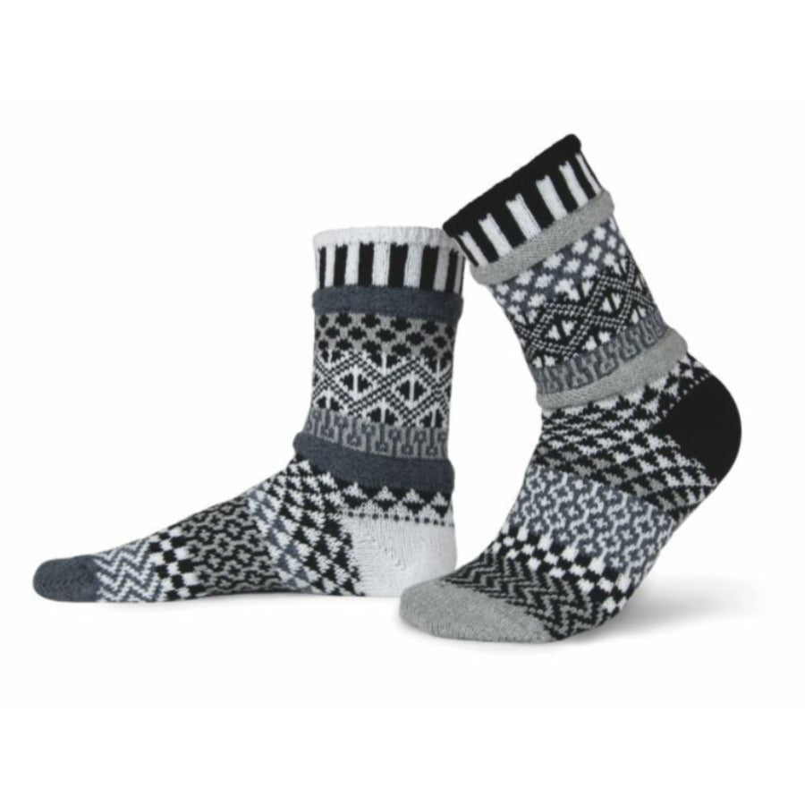 Solmate Socks - Midnight Crew Socks - Large