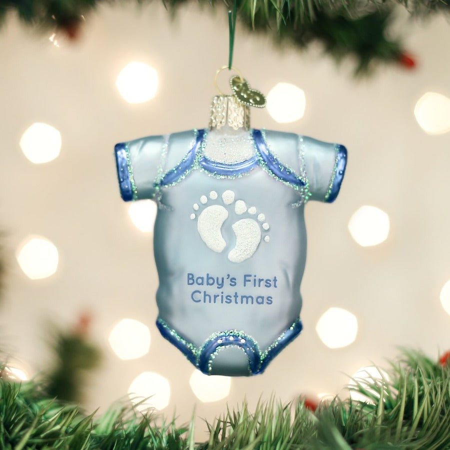 Baby Onesie - Blue - Old World Christmas