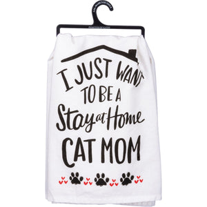 Dish Towel - Cat Mom