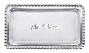 Beaded Tray - Mr. & Mrs.