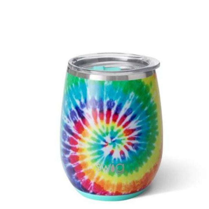 Stemless Wine Cup - Swirled Peace