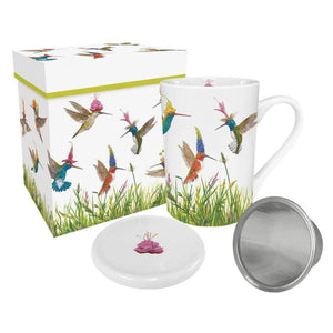 Meadow Buzz - Gift-Boxed Tea Mug with Lid & Strainer