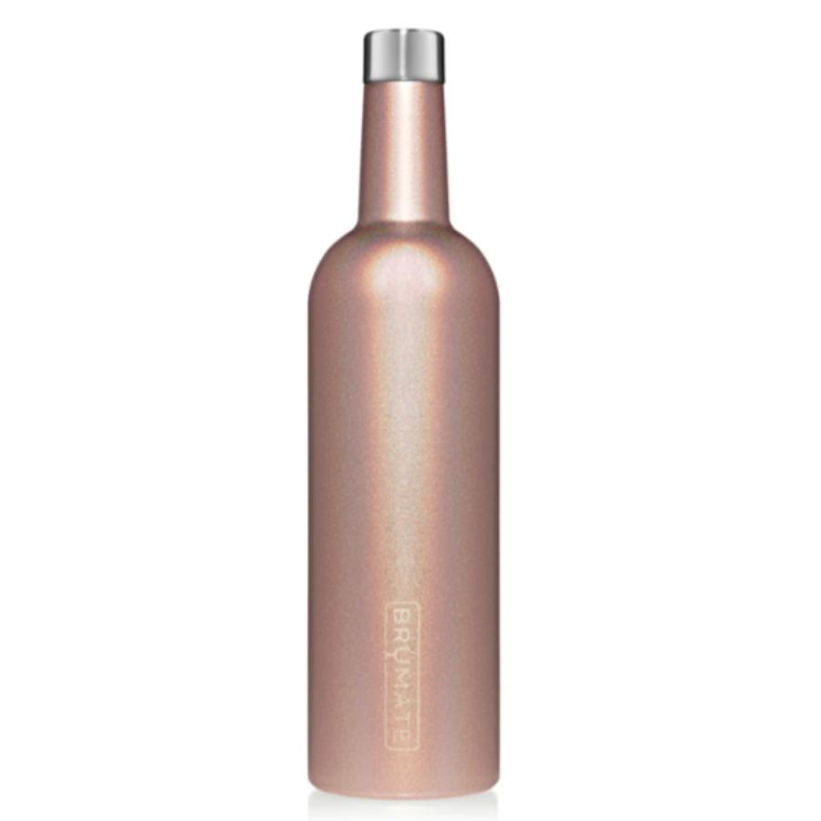 Winesulator Wine Canteen - Glitter Rose Gold
