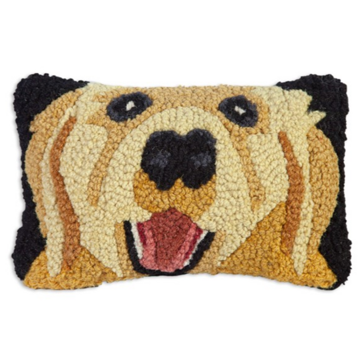 Hooked Pillow - Golden Retriever Pillow