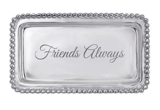 "Beaded Statement Tray - ""Friends Always"""